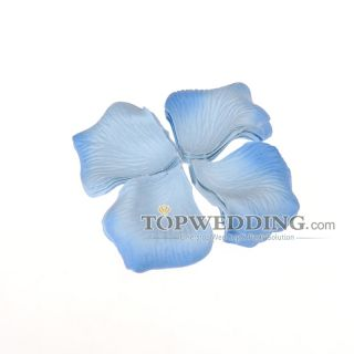144pcs Light Blue Flower Girl Rose Petals Wedding Party Table Scatter