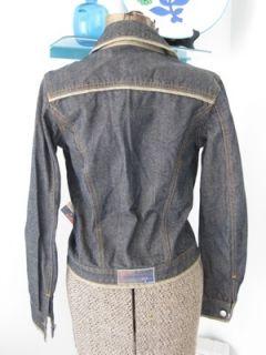 New NWT Coogi Down Under Blue Denim Jean Coat Jacket S