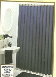 Heavy Duty Navy Shower Curtain Or Liner Commercial Grade Vinyl