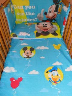 Disney Mickey Mouse Donald Duck Blue Balloon Bedding Set All Sizes