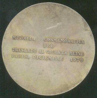 Simon Bolivar Venezuela RARE Silver Medal Great Size Paris Mint 1976