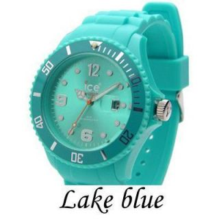 Lake Blue Jelly Ice Watch Women Girls Ladies Unisex Wrist Watch 43mm