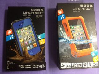 Lifeproof iPhone 4 4S Blue Life Proof Case Lifejacket Both New in Box
