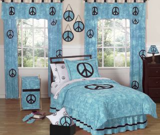 and black peace out collection 3pc full queen bedding set peace bu q 3