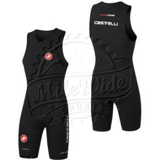 Castelli Body Paint Tri Suit Mens Large Black Triathlon Racing Kona