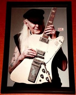 JOHNNY WINTER GIBSON FIREBIRD BLUES ROCK LEGEND FRAMED TRIBUTE