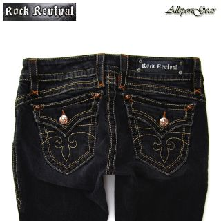 ROCK REVIVAL GWEN LOW RISE BOOT CUT FLAP POCKET JEANS WOMENS SIZE 30