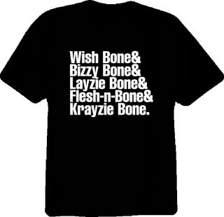 Bone Thugs N Harmony Rap Hip Hop New Black T Shirt