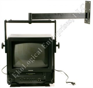 Toshiba MV13M2 13 Color TV/VCR Combo w/ Heavy Duty Wall Mount