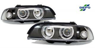 Depo Free SHIP 97 00 BMW E39 5 Series Angel Eye Projector Clear Corner