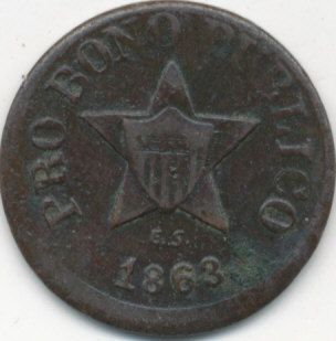 1863 CIVIL WAR TOKEN NEW YORK PRO BONO PUBLICO VERY NICE TOKEN