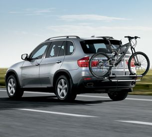 BMW Thule Rear Mounted Bicycle Carrier Holds 2 Bikes