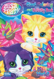 Lisa Frank Fun with Friends Kittie Cat Coloring and Activity Book for