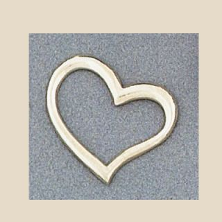 Sterling Silver Floating Heart Valentines Love Pendant