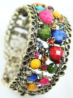 Fashion Vintage Tibetan Silver Crystal Heart Women Bracelet