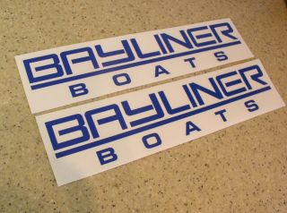 Boat Decals Die Cut 2 Pak 12 Many Colors FREE SHIP + Free Fish Decal