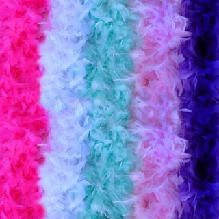 Feather Boas Hot BABY Pink WHITE Green Silver Purple 6 long each