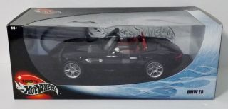 Hot Wheels BMW Z8 Diecast 1 18 Scale Car Black and Red Interior New in