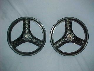 Style 16 Pit Bike Mags Old School BMX Wheel Set Spin Smooth