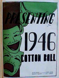 1946 COTTON BOLL   JACKSON HIGH SCHOOL   JACKSON Mississippi