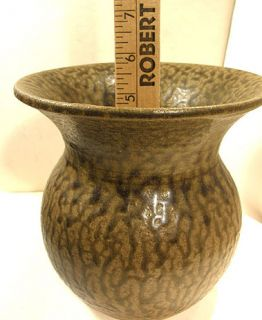 DANIEL BOONE SOUTHERN FOLK ART POTTERY SPITTOON VASE GEORGIA