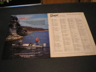 1983 Ranger Boats Boat 2pg Ad Evinrude Outboard Motor Men Fishing