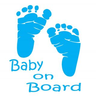 Baby on Board Car Window Decal Great Gift Idea 5X6