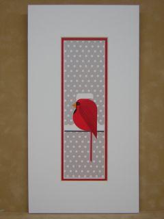 Charles Harper Cool Cardinal Charley Matted Art Card
