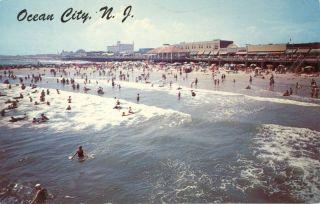 Ocean City NJ New Jersey Boardwalk Beach 1964 Postcard