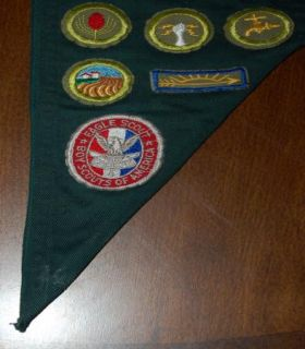 Boy Scout Merit Badge Sash with Cards Late 50s Eagle