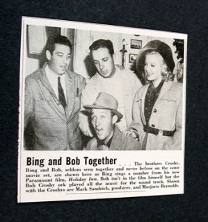 Bing and Bob Crosby on Holiday Inn Set 1942 Picture
