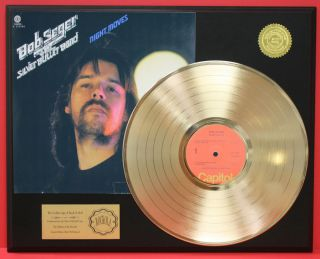 Bob Seger Night Moves Gold LP Record Limited Edition Plaque Free