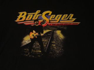 BOB SEGER VINTAGE ORIGINAL CONCERT TOUR T SHIRT WITH TOUR CITIES ON
