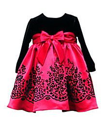 RARE Editions Black Red Fancy Dress with Long Sleeves Newborn 3 Month