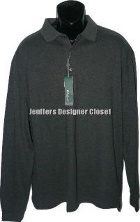 NWT BOBBY JONES Golf XL Pima cotton polo shirt long sleeve dark gray