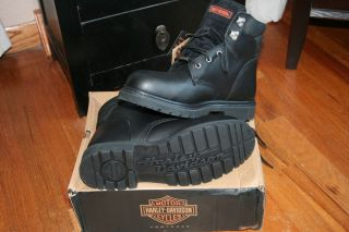New Mens Boot Harley Davidson Steel Toe Leather Size 11 M