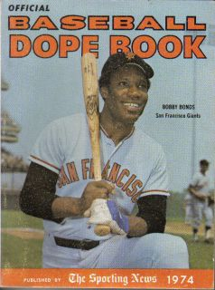 News Baseball Dope Book Bobby Bonds San Francisco Giants