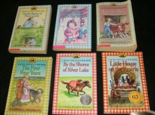 Little House Prairie Children Book Set Lot Laura Ingalls Wilder