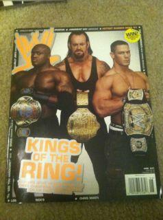 Undertaker John Cena Bobby Lashley WWE Wrestling Magazine June 2007