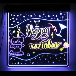 LED Illuminated Fluorescent Sign Neon Writing Memo Message