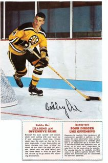 Bobby Orr 1967 8 Post Cereal Action Panel with Full Tip