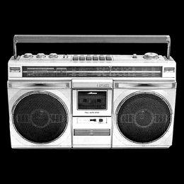 Boom Box Hip Hop Break Dance NYC 50 Cent DMC Soulja Boy T Shirt