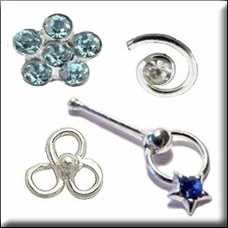 Sterling Silver Nose Stud Studs Rings Body Jewelry
