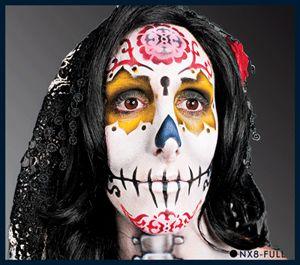 European Body Art Nixs Collection SUGAR SKULL #2 Halloween Airbrush