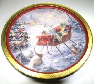 Nicky Boehme Night Before Christmas Serving Tray Cookie Tin Container