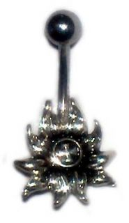 Gothic Flower Cross Belly Navel Ring Body Jewelry New