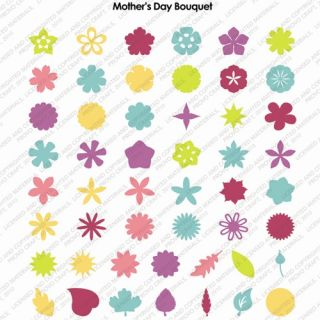 Mothers Day Bouquet Cricut Expression Machine Cartridge