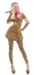 Leopard Print Bodysuit Nicki Minaj Costume Dress Adult Women Rapper