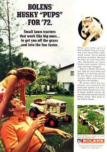 Bolens Husky Pup 813 Lawn Mower Riding Tractor 1972 Ad
