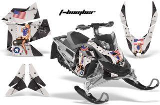 AMR Racing Sled Wrap MX Z Renegade Graphic Kit Freeride Skidoo Rev XP